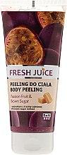 "Voňavky, Parfémy, kozmetika Telový peeling ""Mučenka a hnedý cukr"" - Fresh Juice Passion Fruit & Brown Sugar"