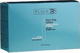 Voňavky, Parfémy, kozmetika Ampulky na vyrovnávanie nezbedných a kučeravých vlasov - Black Professional Line Anti-Frizz