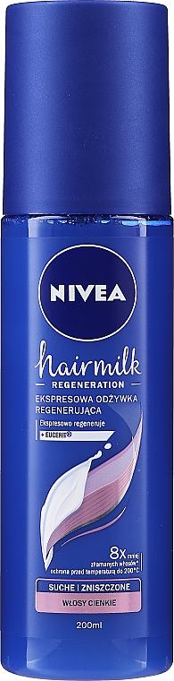 """Obnovujúci kondicionérový sprej na tenké vlasy """"7 Plus"""" - Nivea Hairmilk Conditioner"""
