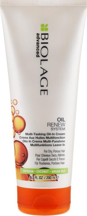 Krém na pórovité vlasy bez oplachovania - Biolage Advanced Oil Renew Multi-Tasking