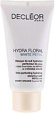 Voňavky, Parfémy, kozmetika Zmiernená maska na tvár - Decleor Hydra Floral White Petal Skin Perfecting Hydrating Sleeping Mask