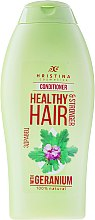 """Voňavky, Parfémy, kozmetika Kondicionér na vlasy """"Geránium"""" - Hristina Cosmetics Healthy Hair Conditioner"""