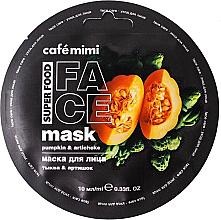 """Voňavky, Parfémy, kozmetika Maska na tvár """"Tekvica a artičok"""" - Cafe Mimi Face Mask"""
