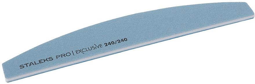 Pilník na nechty polmesiac, zrnitosť 240/240 - Staleks Pro Exclusive