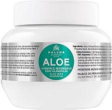 """Voňavky, Parfémy, kozmetika Maska na hydratáciu a obnovu suchých a poškodených vlasov """"Aloe"""" - Kallos Cosmetics Moisture Repair Aloe Hair Mask"""