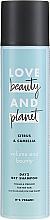 """Voňavky, Parfémy, kozmetika Suchý šampón pre jemné vlasy """"Citrus a Kamélia"""" - Love Beauty And Planet Citrus & Camellia Dry Shampoo"""