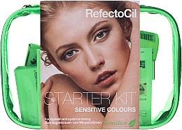 Voňavky, Parfémy, kozmetika Sada na farbenie obočia a mihalníc - RefectoCil Lash & Brow Starter Sensitive Kit (dye/3x15ml + developer/gel/60ml + tint/remover/150ml + artist/palette + pads + folder)