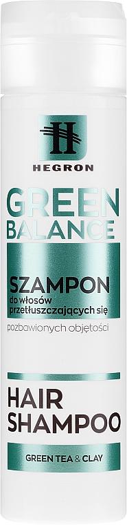 Šampón pre mastné vlasy - Hegron Green Balance Hair Shampoo