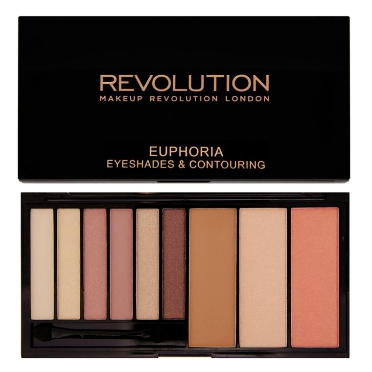 Paleta tieňov a kontúrovacích prostriedkov - Makeup Revolution Euphoria Palette — Obrázky N1