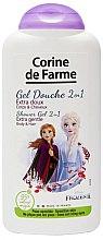 """Voňavky, Parfémy, kozmetika Šampón a sprchový gél 2 v 1 """"Anna a Elza"""" - Corine de Farme Frozen"""