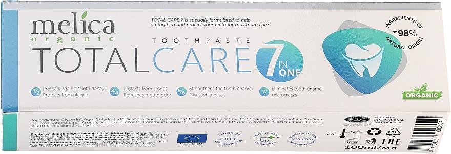 """Zubná pasta """"Komplexná starostlivosť"""" - Melica Organic Toothpaste Total Care 7"""