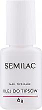Voňavky, Parfémy, kozmetika Lepidlo na nechty so štetcom - Semilac Nail Tip Glue