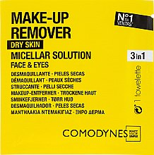 Voňavky, Parfémy, kozmetika Servítky na odstránenie make-upu - Comodynes Make Up Remover Micellar Solution Easy Cleanser