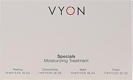 Voňavky, Parfémy, kozmetika Sada - Vyon Specials Moisturizing Treatment (f/peeling/10ml + f/conc/7ml + f/mask/15ml + f/cr/7ml)