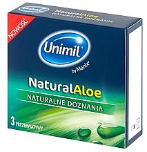 Voňavky, Parfémy, kozmetika Kondómy, 3 ks - Unimil Natural Aloe