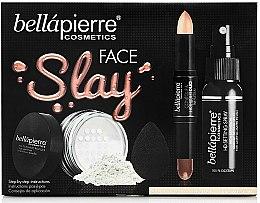 Voňavky, Parfémy, kozmetika Sada - Bellapierre Face Slay Kit Fair/Medium (stick/8.6g+powder/6.5g+spray/70ml+sponge/1pcs)