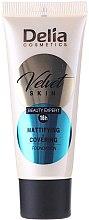 Voňavky, Parfémy, kozmetika Matujúci tónovaci krém - Delia Mineral Velvet Skin