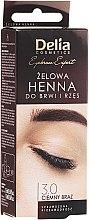Voňavky, Parfémy, kozmetika Gél farba na obočie, tmavo hnedá - Delia Eyebrow Tint Gel ProColor 3.0 Dark Brown
