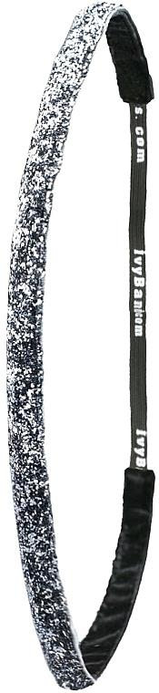 Čelenka, strieborná - Ivybands Metal Glitter Hair Band — Obrázky N2