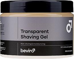 Voňavky, Parfémy, kozmetika Gél na holenie, priehľadný - Beviro Transparent Shaving Gel