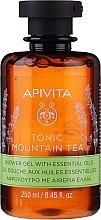 """Voňavky, Parfémy, kozmetika Sprchový gél """"Horský čaj"""" s éterickými olejmi - Apivita Tonic Mountain Tea Shower Gel with Essential Oils"""