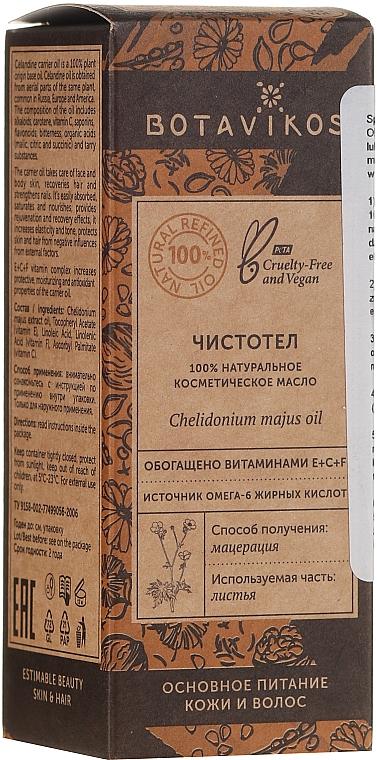 Prírodný kozmetický olej, vlastovičník - Botavikos Natural Chelidonium Majus Oil