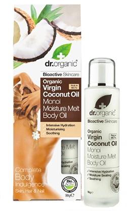 Olej na telo s kokosovým mliekom - Dr.Organic Virgin Coconut Oil Moisture Melt Body Oil — Obrázky N2