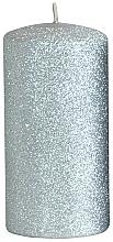 Voňavky, Parfémy, kozmetika Dekoračná sviečka, strieborná, 7x14 cm - Artman Glamour