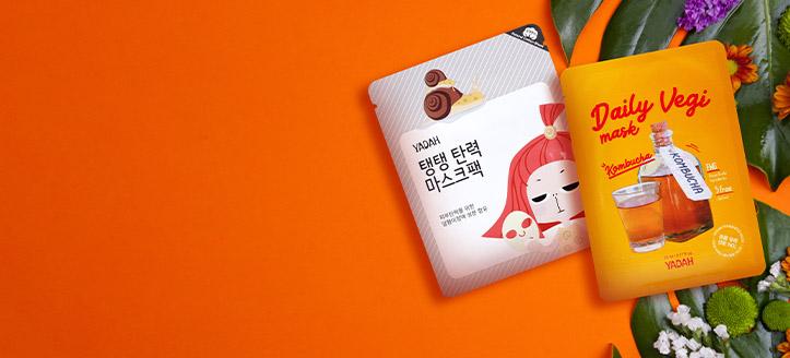Pri nákupe výrobkov Yadah v hodnote vyše 12 € získaj masku na tvár na výber