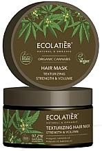 """Voňavky, Parfémy, kozmetika Maska na vlasy """"Spevnenie a texturovanie"""" - Ecolatier Organic Cannabis Hair Mask"""
