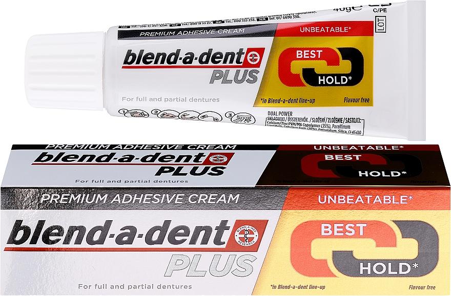 Fixačný krém na zubnú protézu - Blend-A-Dent Premium Adhesive Cream Plus Dual Power Light Mint — Obrázky N1
