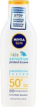 Voňavky, Parfémy, kozmetika Opaľovacie mlieko pre deti - Nivea Sun Kids Pure & Sensitive Sun Lotion SPF50+