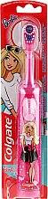 Voňavky, Parfémy, kozmetika Detská elektrická zubná kefka, supermäkká, Barbie, ružová s bielymi bodkami - Colgate Electric Motion Barbie