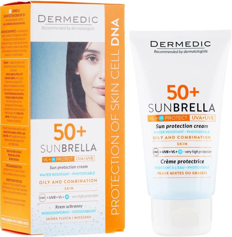 Opaľovací krém pre mastnú a kombinovanú pokožku - Dermedic Sunbrella Sun Protection Cream Oily and Combination SPF50