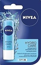 """Balzam na pery """"Aqua starostlivosť"""" SPF 15 - Nivea Lip Care Hydro Care Lip Balm — Obrázky N2"""
