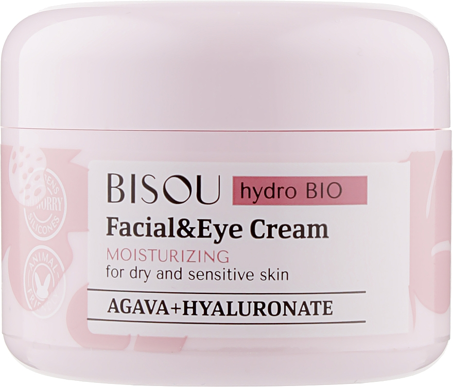 """Krém na tvár a pokožku okolo očí """"Hydratačný"""" - Bisou Hydro Bio Facial Eye Cream"""