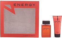 Voňavky, Parfémy, kozmetika Concept V Design Energy Men - Sada (edt/100ml + ash/balm/100ml)