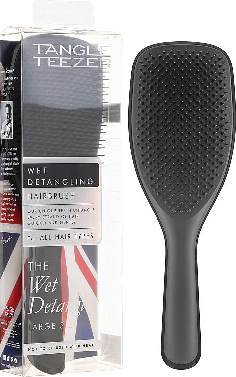 Kefa na vlasy, veľká, čierna - Tangle Teezer The Wet Detangler Black Gloss Large Size Hairbrush