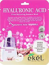 Voňavky, Parfémy, kozmetika Textilná maska s kyselinou hyalurónovou - Ekel Hyaluronic Acid Ultra Hydrating Essence Mask