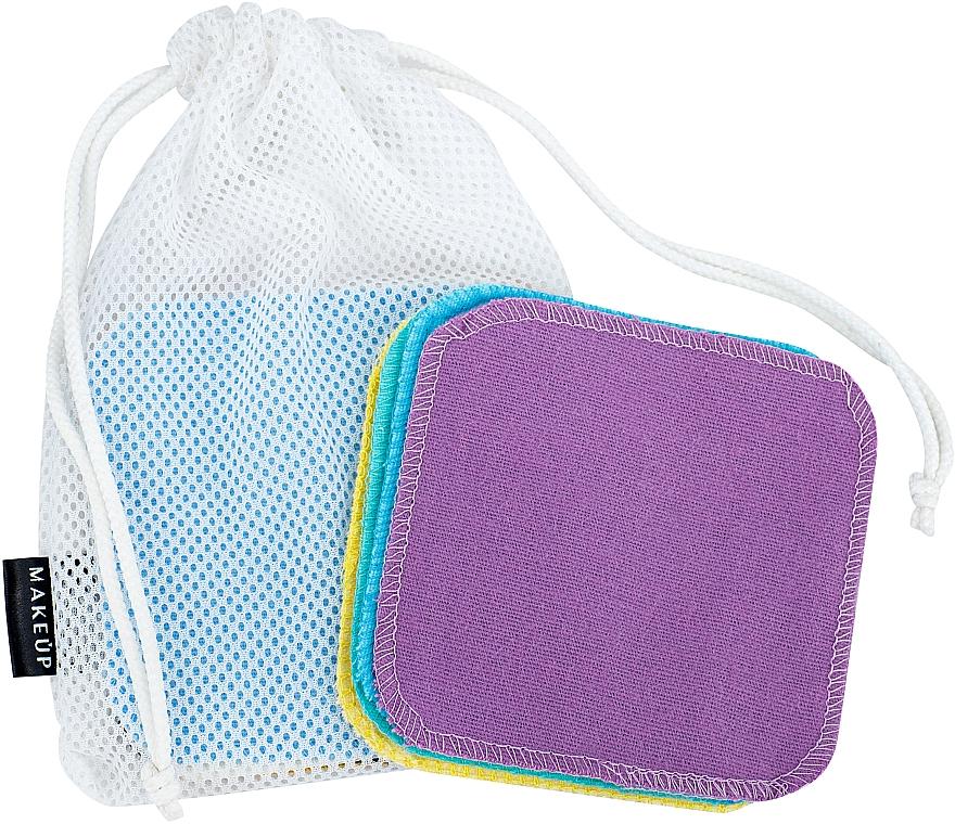 """Opakovane použiteľné oličovacie špongie vo vrecku na pranie """"ToFace"""" - Makeup Remover Sponge Set Multicolour & Reusable"""