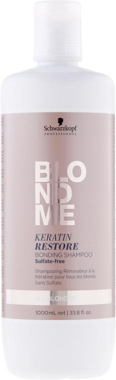 """Šampón-bonding """"Keratínové obnovenie"""" pre všetky odtiene blondu - Schwarzkopf Professional Blondme Keratin Restore Bonding Shampoo"""