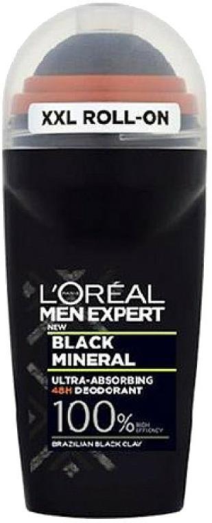 Guľvôčkový dezodorant - L'Oreal Paris Men Expert Black Mineral Deo Roll-On