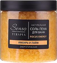"""Voňavky, Parfémy, kozmetika Prírodná soľ a pena do kúpeľa """"Zázvor a limetka"""" - Senso Terapia Focus Energy"""