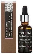 Voňavky, Parfémy, kozmetika Bath House Cuban Cedar & Lime - Olej na bradu