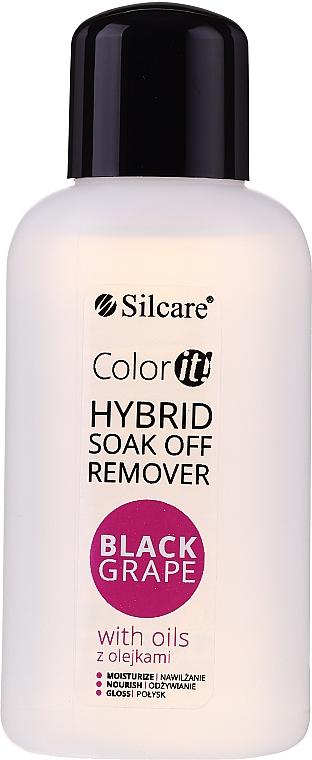 Odlakovač - Silcare Soak Off Remover Black Grape