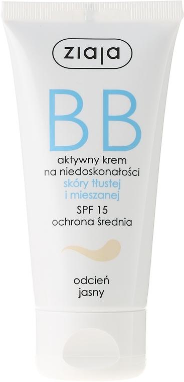 BB krém na mastnú a kombinovanú pleť - Ziaja BB-Cream SPF 15
