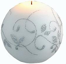 Voňavky, Parfémy, kozmetika Dekoratívna sviečka, biela guľa, 8 cm - Artman Amelia