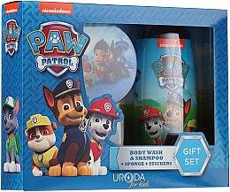 Voňavky, Parfémy, kozmetika Sada - Uroda Paw Patrol Boy (sh/gel/250ml + sponge + stickers)