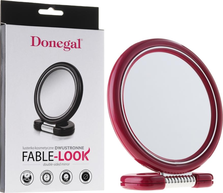 Obojstranné zrkadlo na stojane, 12 cm, 9504, ružové - Donegal Mirror