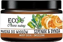 """Voňavky, Parfémy, kozmetika Maska na vlasy """"Tekvica a špenát"""" - Eco U Pumpkins And Spinach Mask"""